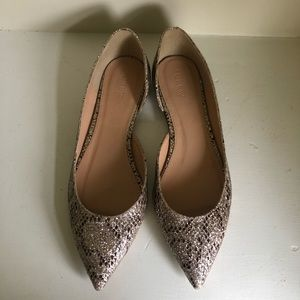 J. Crew Holiday Glitter Perfect Flats Size 9 VGC